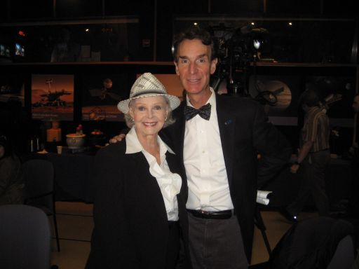 Bill Nye and June Lockhart