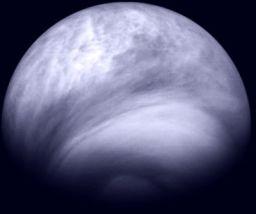 Venus' southern hemisphere in the ultraviolet