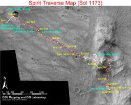 Spirit traverse map