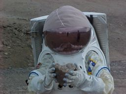 Emily in the Hamilton-Sundstrand space suit