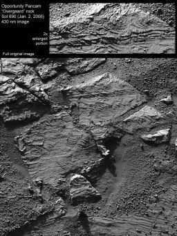 Festoon Patterns in Meridiani Outcrop