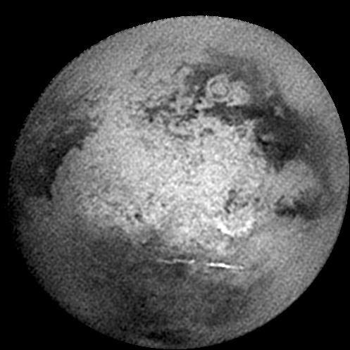 Approach view of Titan from Cassini's 'Titan-B' flyby