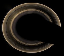Saturn's complete ring system from the north