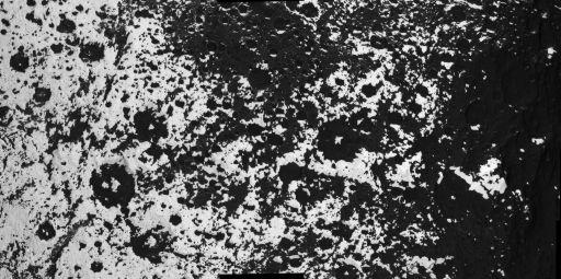 High-resolution mosaic of Iapetus' equatorial transitional zone