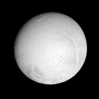 Enceladus' leading hemisphere