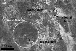 Sketch map of Ganesa Macula area
