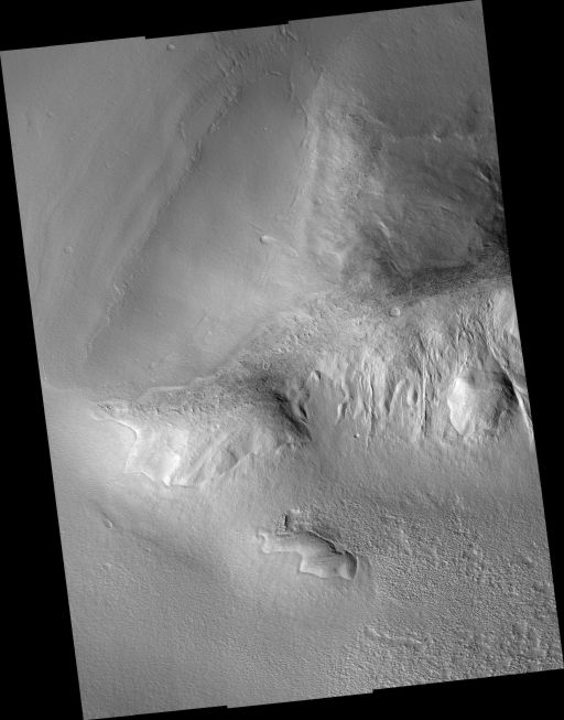 Lobate Debris Apron on Mars