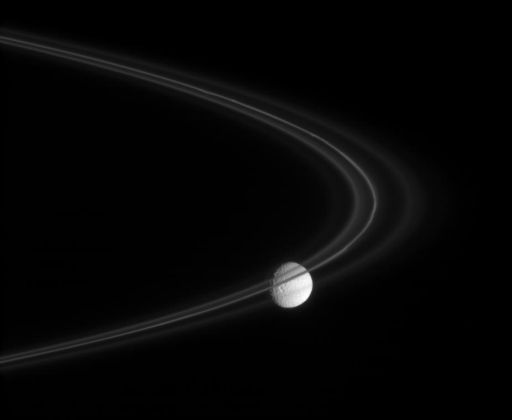 Mimas and the F ring