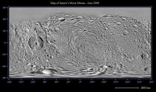 Map of Mimas - June 2008