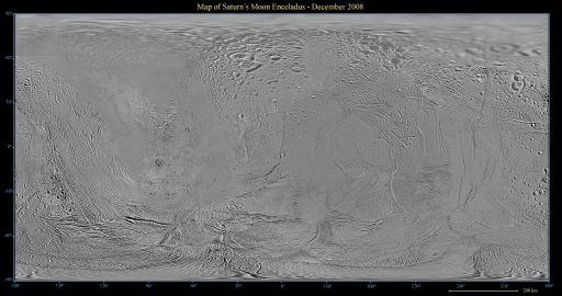 Map of Enceladus - December 2008