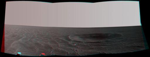 Yankee Clipper Crater in 3-D
