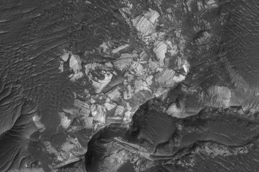 Jumbled, Broken Blocks of Layered Rock in Holden