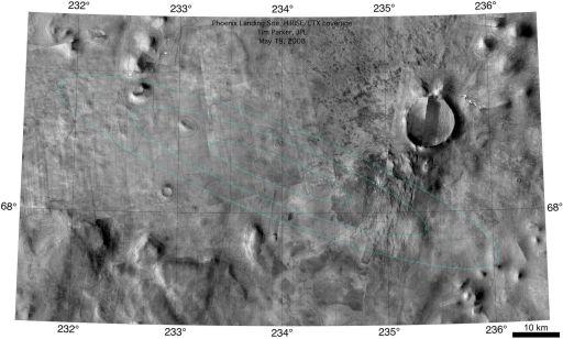 The Phoenix landing area