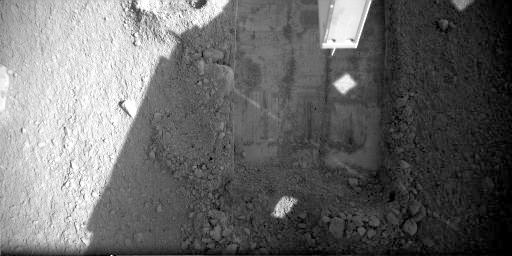 Snow White trenches on sol 32 (view from Robotic Arm camera)