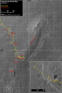 Opportunity route map 090111