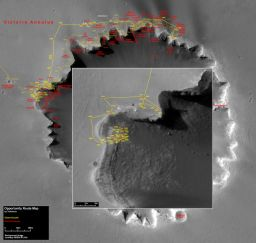Opportunity's route map to sol 1,562