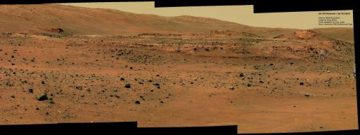 Spirit's position at Home Plate on sol 746