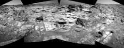 Spirit's view of Home Plate at the end of sol 746