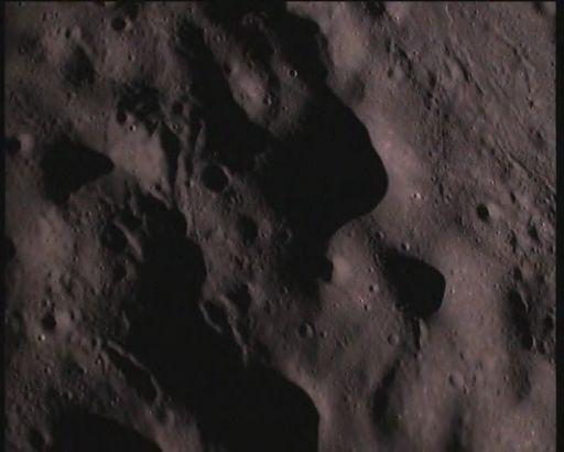 Image from the Chandrayaan-1 Moon Impact Probe