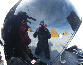 Ski-doo helmets make great mirrors