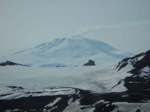 Awesome view of a smoking Mount Erebus