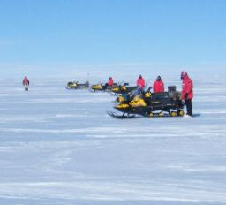 With ski-doos lined-up, we are ready to start a search