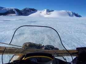 Mt. Ward through my windshield