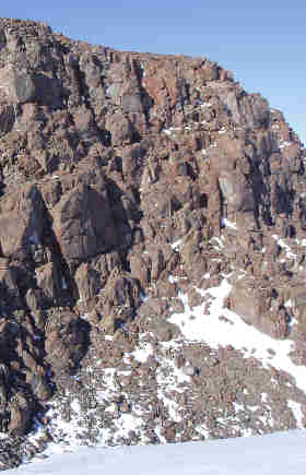 Cliffs of Ferrar dolerite