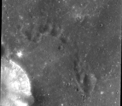Chandrayaan-1 Terrain Mapping Camera image of the Moon