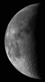 Deep Impact MRI image of the Moon