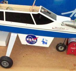 The new NASA and Planetary Society logos on the plane