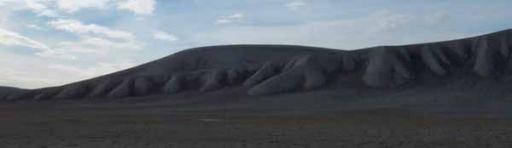 Undulating hills inside Haughton Crater, Devon Island