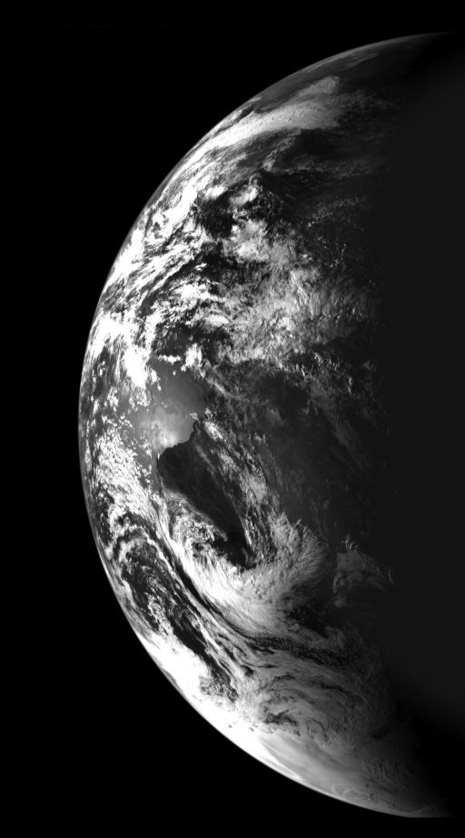 Earth from Chandrayaan-1