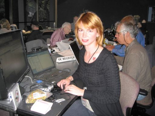 In the Phoenix landing press room