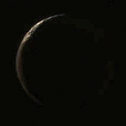 Iapetus in Cassini's forward view