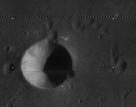 Lunar Orbiter image covering the first Chandrayaan-1 TMC image