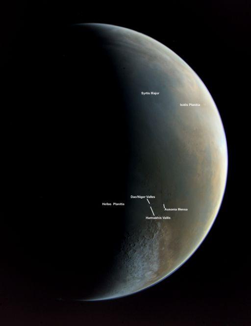 Viking Orbiter approaches Mars