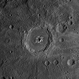 Eminescu crater, Mercury
