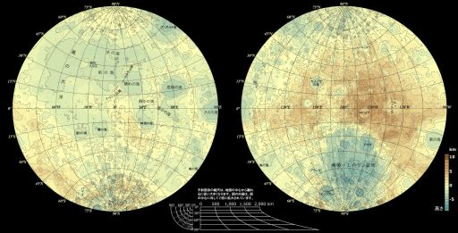 Best available topographic map of the Moon, pre-Kaguya