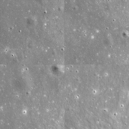 Lunar highland terrain at four scales