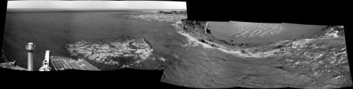 Opportunity's view on Sol 1129