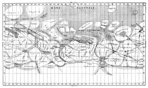 Giovanni Schiaparelli's map of Mars