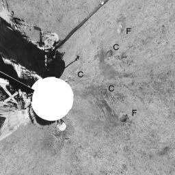 Lunar Surveyor 6 Panorama (polar projection)