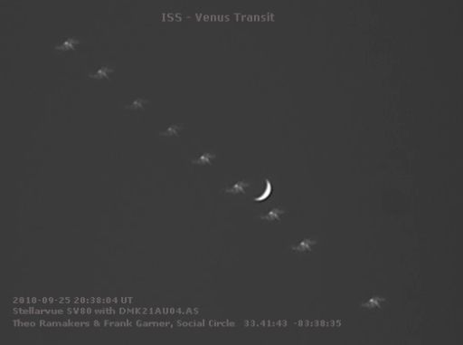 Space Station transits Venus -- in daylight