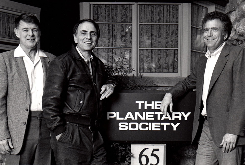 Bruce Murray, Carl Sagan and Louis Friedman