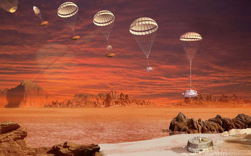 Sojourner rover on Mars