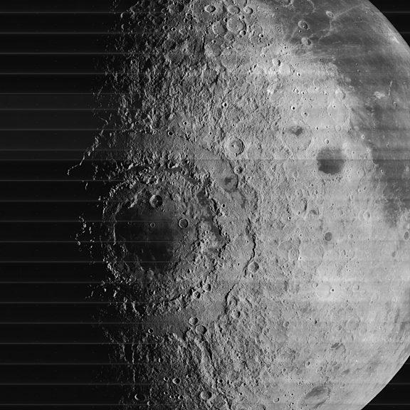 Orientale Basin from Lunar Orbiter IV