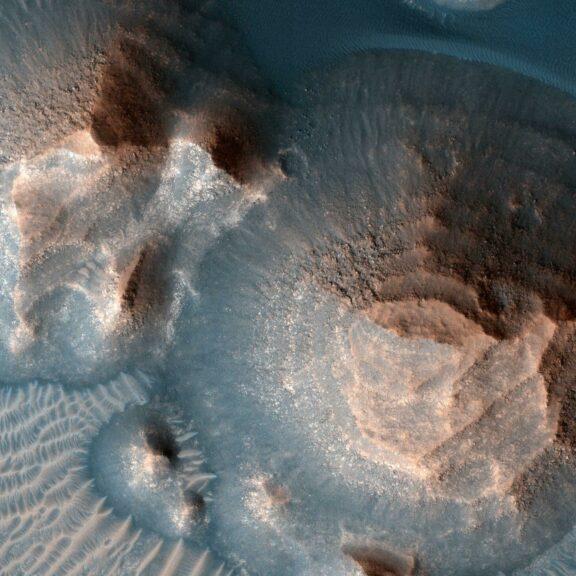 Craters in arabia terra mars