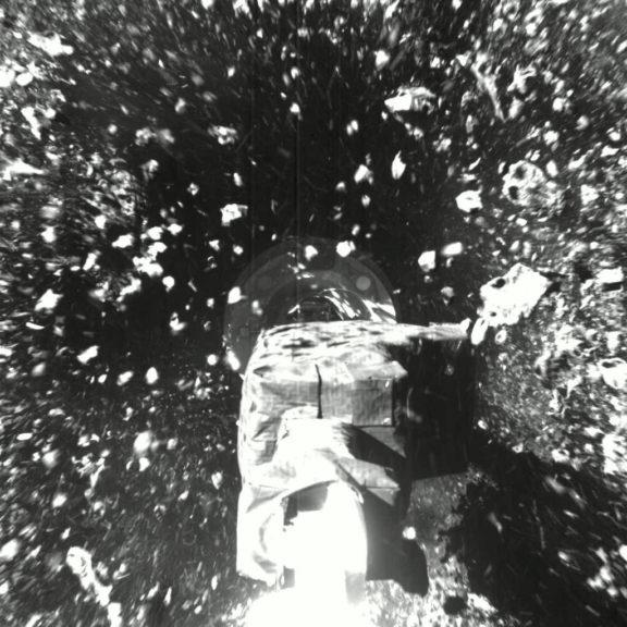 Touchdown on asteroid Bennu