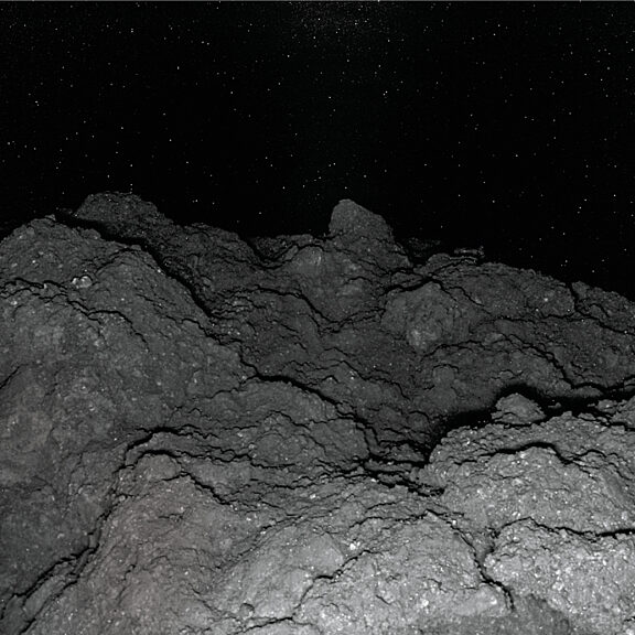 Surface of asteroid Ryugu